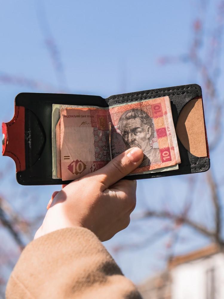 Кожаный зажим для денег Turtle comfort с отделение для монет винтажный хаки